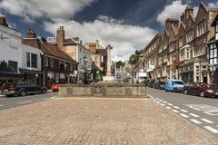 Stadskärna Arundel västra Sussex Fotografering för Bildbyråer
