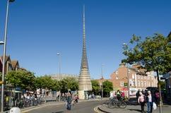 Stadskärna Weston-Toppen-sto Arkivfoto