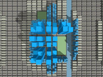 stadskärnatotal vektor illustrationer