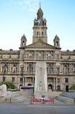 Stadskammare i George Square, Glasgow, Skottland Royaltyfri Foto