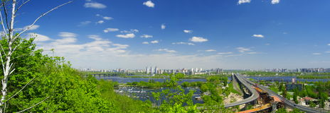 stadskiev panorama Royaltyfria Bilder