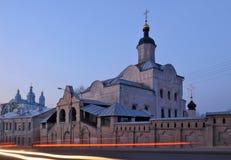 stadsklosterrussia smolensk trinity arkivbilder