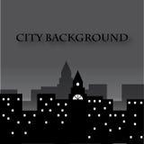 Stadskonturbakgrund Arkivbild