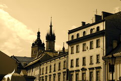 stadskrakow poland gator arkivfoton