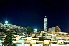 stadskrilatskoemoscow natt Fotografering för Bildbyråer