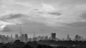 stadsKuala Lumpur horisont fotografering för bildbyråer