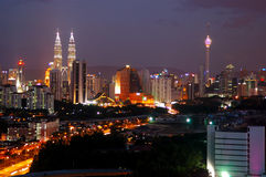 stadsKuala Lumpur horisont Royaltyfria Foton