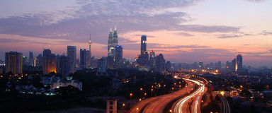 stadsKuala Lumpur malaysia horisont Royaltyfri Bild