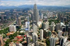 stadsKuala Lumpur malaysia panorama- sikt Arkivbild