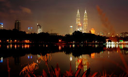 stadsKuala Lumpur natt Royaltyfria Foton