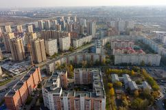 Stadskwarten van Tyumen Rusland stock foto