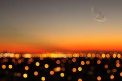 Stadslampor Arkivfoto
