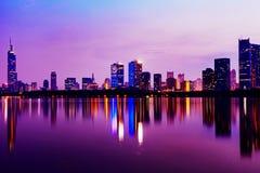stadslampor Royaltyfri Bild