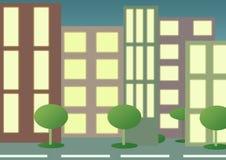 stadslampor Arkivbild