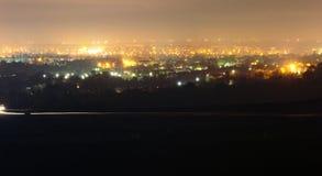 Stadslandschap bij de nacht royalty-vrije stock fotografie