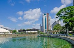 Stadslandschap van Colombo Sri Lanka stock foto's