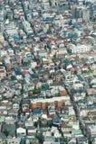 Stadslandschap van een hoogte Stock Foto's