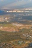 Stadslandschap van het vliegtuig Royalty-vrije Stock Afbeelding