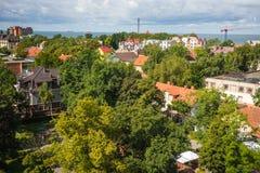 Stadslandschap in Zelenogradsk, Kaliningrad-gebied, Rusland Royalty-vrije Stock Foto's