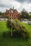 Stadslandschap in Zelenogradsk, Kaliningrad-gebied, Rusland Stock Foto