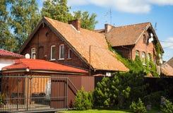 Stadslandschap in Zelenogradsk, Kaliningrad-gebied, Rusland Royalty-vrije Stock Afbeelding