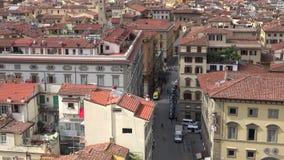 Stadslandskap av Florence italy stock video