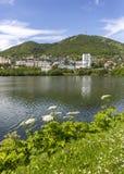 Stadslandskap av Petropavlovsk-Kamchatsky Royaltyfri Fotografi
