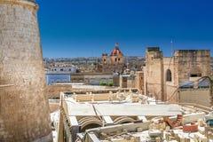 Stadslandskap av Victoria i Malta Royaltyfri Bild