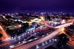 stadslandskap bangkok arkivbild