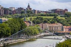 Stadslandskap Bilbao, Spanien Arkivfoto
