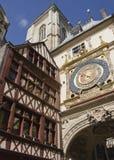 Stadslandskap i Normandie Royaltyfri Bild