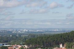 Stadslandskap - träd - Sao Jose Dos Campos Royaltyfri Fotografi