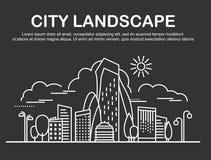 Stadslandskapmall vektor illustrationer