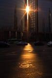 Stadslicht stock foto