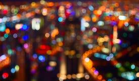 Stadslichten stock afbeelding