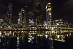 Stadslichten van Melbourne Stock Foto's