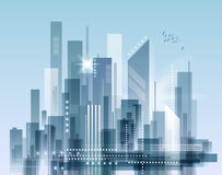 Stadsliggande vektor illustrationer