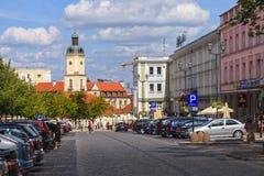 Stadsliv i Bialystok, Polen. arkivfoto