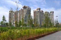 Stadsliv Milan, Italien Arkivbilder