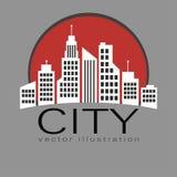 Stadslogo, symbol för vektorbyggnadsrengöringsduk Royaltyfria Foton