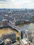 stadslondon sikt Panoramautsikt från golvet 32 av London skyskrapa Royaltyfri Foto