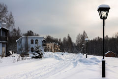 stadslondon vinter Arkivfoto