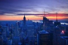 stadsmanhattan ny horisont york Arkivbild