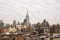 stadsmanhattan ny horisont york Arkivfoton
