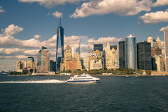stadsmanhattan ny horisont york Royaltyfri Fotografi