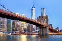 stadsmanhattan ny horisont york Royaltyfri Foto
