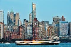 stadsmanhattan ny horisont york Arkivfoto