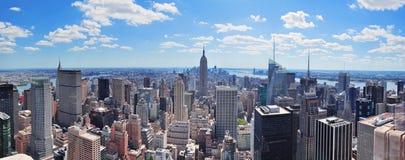 stadsmanhattan ny panorama york Arkivfoto