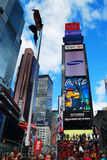 stadsmanhattan nya fyrkantiga tider york Arkivfoto