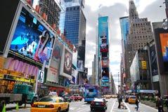 stadsmanhattan nya fyrkantiga tider york Royaltyfri Bild